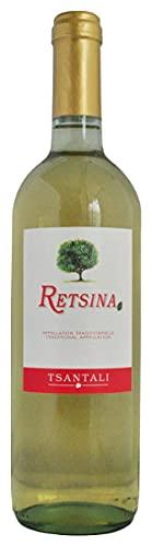 Vino greco bianco secco retsina Tsantali (vino resinato) 11% vol 75cl - 6 bottiglie