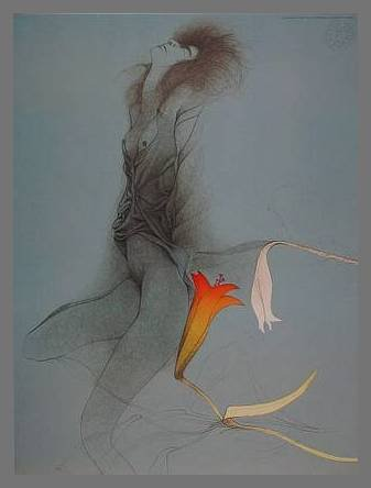Germanposters Bruno Bruni Poster Kunstdruck Sola Selam mit Alu Rahmen in Champagne