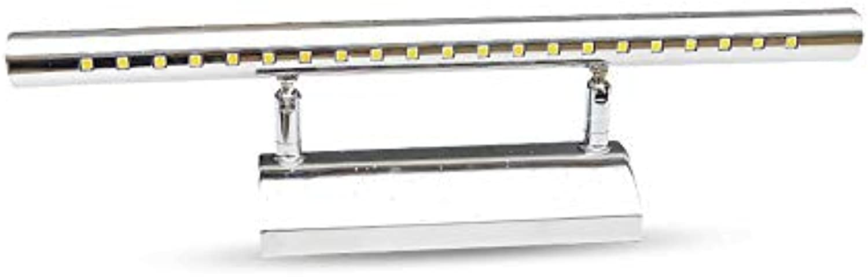 LED moderne Edelstahl Spiegel vorne Licht Badezimmer Wand Leuchte Make-up-Spiegel Schaltschrankleuchten Leuchten einfache Wandmontage Schminkspiegel (Farbe  Weies Licht-5W)