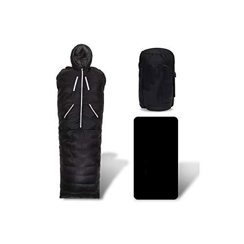 NANE Saco de Dormir Abra el Saco de Dormir en el Medio Tipo Momia Extra cálido y Ligero, Compacto,...