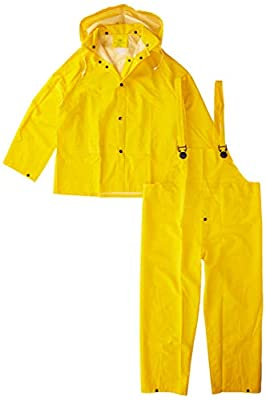 3PR0300YM Boss 3PR0300YM Medium Yellow 3-Piece Lined PVC Rain Suit from Boss Gloves