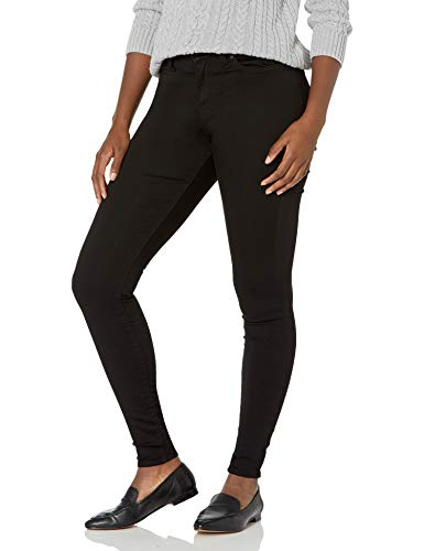 Signature by Levi Strauss & Co. Gold Label Women's Modern-Skinny Jean, Noir/Gold, 14