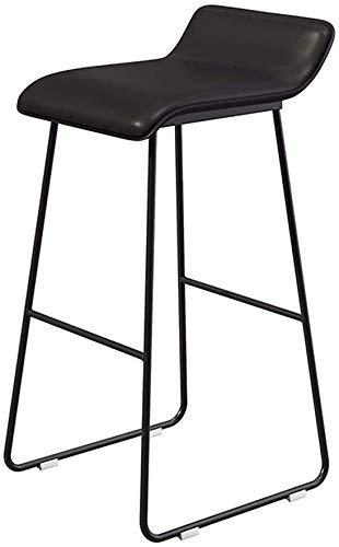 QTQZDD Moderne barkruk stoel met voetensteun, voor keuken, pub, barkruk, kunstleren zitting en metalen poten 1 1