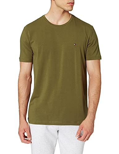 Tommy Hilfiger TH Stretch Slim Fit tee Camiseta, Verde (Putting Green), XL para Hombre
