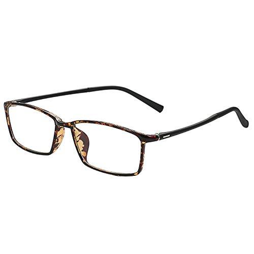 Aroncent TR90 Zonnebril, uniseks, montuur, nerdbril, retro computerbril, ultralicht, heldere glazen, pantobril, zonder sterkte, unisex