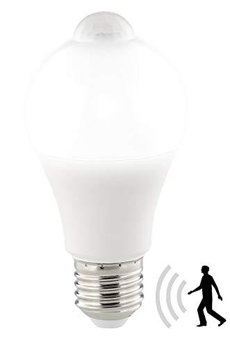 Luminea LED mit Bewegungsmelder: LED-Lampe, PIR-Sensor, 12 W, E27, tageslichtweiß, 6500 K, 1.055 Lumen (LED Lampe mit Bewegungsmelder)
