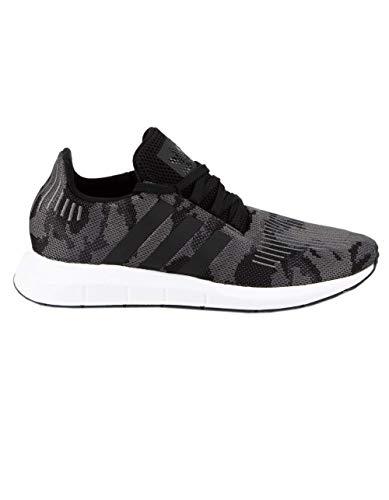 adidas Originals Men's Swift Running Shoe, Black/Black/White, 6.5 M US