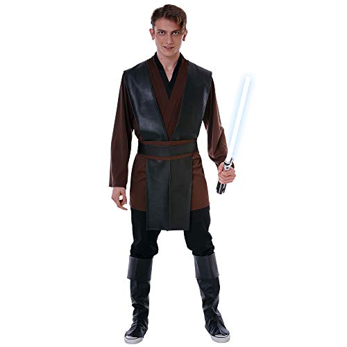 Force Fighter Halloween Costume - Space Wars Warrior Cosplay Costume (Large) Brown