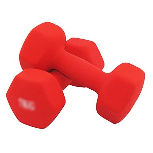 Mancuernas Combinaciones De Ejercicios De Brazos Profesionales Comerciales Se Puede Usar con Un Banco De Pesas. (Color : Red, Size : 3kg*2)