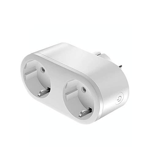 YPASDJH Portátil Nuevo Enchufe de la UE Dual Dual Smart WiFi Plug Adaptador Power Monitor Outlet Socket Timing Control Remoto Smart Home Home Home Ifttt Amazon Mini Enchufe WiFi