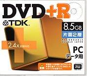 TDK DVD+R片面2層8.5GB 2.4倍速対応 10mm厚ケース入り5枚パック [DVD+R85DLX5N]