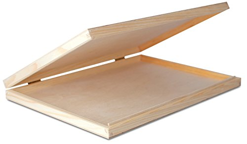 Creative Deco A4 Caja Madera para Decorar con Tapa | 33,2 x 25,2 x 5,3 cm | Documentos Decoracion Papeles Cartas Almacenaje Decoupage Herramientas Objetos de Valor Juguetes