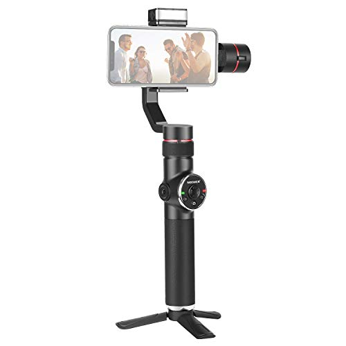 Neewer V5 3-Axis Smartphone Gimbal Handheld Stabilizer, APP Support, Zoom Control/Auto Tracking/Timelapse/Panorama/LED Fill Light for YouTube/Vlog Video/Live Steaming, Compatible with iPhone Android