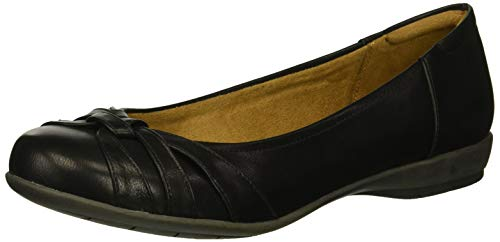 SOUL Naturalizer womens Gift Ballet Flat, Black, 9.5 US