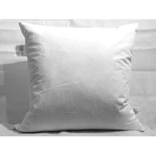 Set of 4 White Duck Feather Cushion Pad Inner Insert Anti Dust Mite And Down Proof Cover - Double Stitched Seams - Non Allergenic - Machine Washable(18' x 18' (45 x 45 cm))