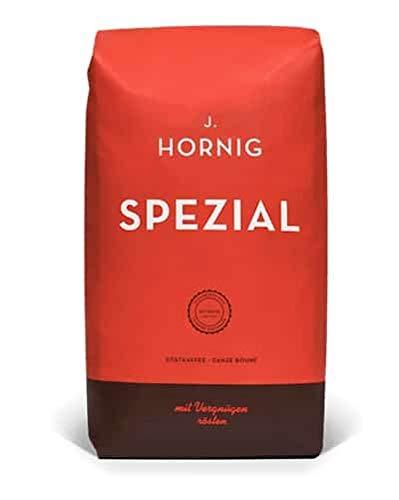 J. Hornig Kaffeebohnen Spezial, 500g, mildes und schokoladiges Aroma, für Vollautomaten, Filterkaffeemaschine oder Espressokocher, ganze Bohnen