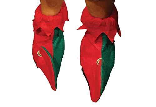 Les Chaussures d'Elfe de 31 centimètres Avec les Cloches - l'Elfe s'Habillent - le Déguisement de Noël (DP48)