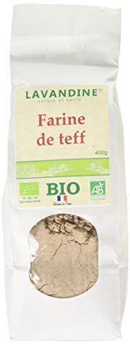 LAVANDINE Farine de Teff Bio sans Gluten 400 g - Lot de 2