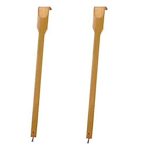 """Huang 2 Piezas de bambú rascador de Espalda Largo Garra de Madera masajeador de relajación Corporal para rascar picazón Herramienta de Alivio Regalos novedosos para Amigos Familia 16.5\"""""""