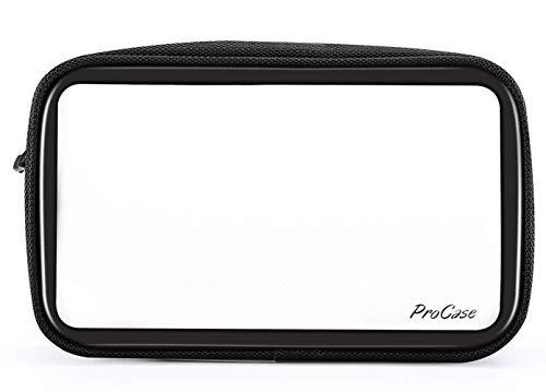ProCase トラベルトイレタリーバッグ TSA承認済み PVC ナイロン 収納 持ち運び 旅行ポーチ コスメクリアバッグ 空港航空認証 –フロストクリア