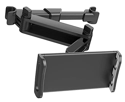 JANWIL Tablet Halterung Auto Kopfstützen Tablet Computerhalterung Universal 360 Grad drehbare Auto-Rücksitzhalterung 4,7-12,9 Zoll Handy Tablet Ausziehbar(Schwarz)
