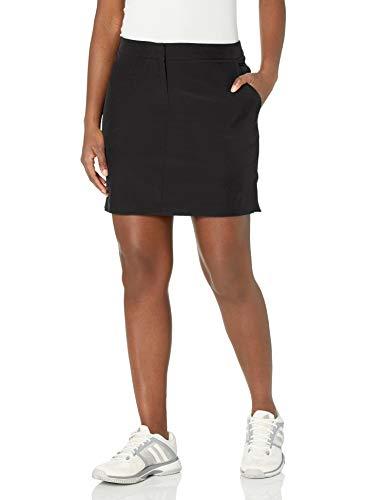 IZOD Women's Golf Swing Flex Skort with Pockets, Black Solid, 12