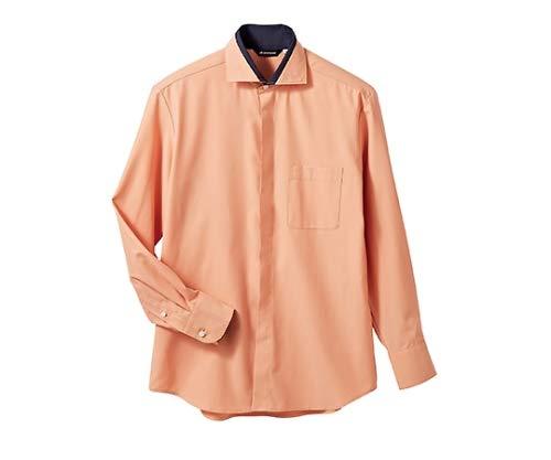 住商モンブラン MONTBLANC(モンブラン) シャツ 兼用長袖 コーラルピンク ネイビー S BF2601-5