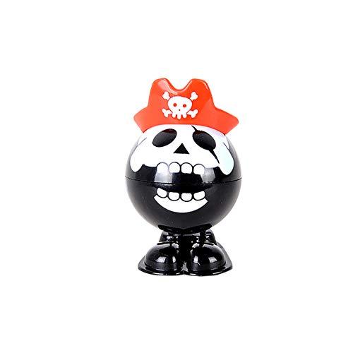 Suministros 1pc de salto de cuerda a un juguete mini fiesta de Halloween de juguete para los niños (negro Esqueleto del pirata)