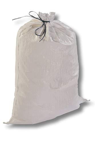 100 Stk. PREMIUM Gewebesäcke mit Bindeband 400x600mm Bändchengewebesäcke Getreidesäcke Hochwassersäcke Sandsäcke Kartoffelsäcke Gartensäcke gewebeverstärkte Säcke Brennholzsäcke Holzsäcke uv beständig