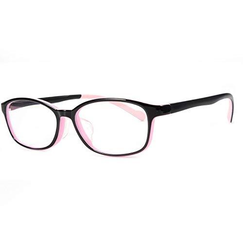 ZYM Kinder-Brillen Rahmen aus Kunststoff Kinderbrillen optische Rahmen Sehkorrektur Brille Brillen for Jungen und Mädchen (Frame Color : Pink)