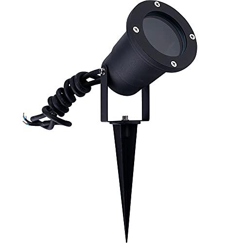 Faretto Da Giardino A LED In Alluminio, IP65, Attacco GU10, Colore: Nero