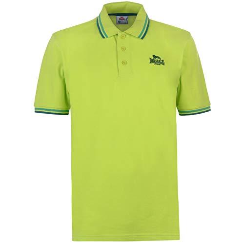 Lonsdale Herren Polohemd Klassische Passform Baumwolle Limette Grün XL