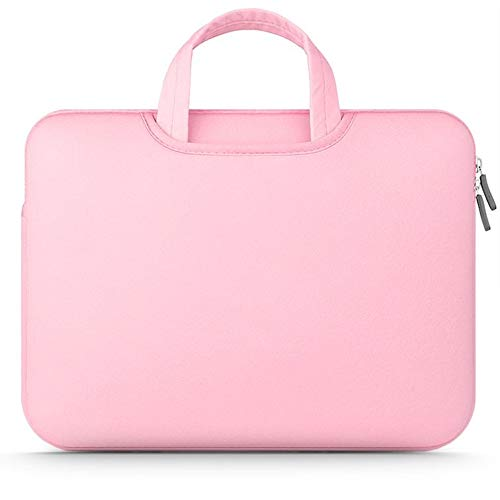 """Tech-Protect Airbag Sleeve Case for 11-12 inch Notebook, Protective Case Soft Carrying Computer Zipper Bag Cover Compatible with 11-12"""" Laptop, Pink"""