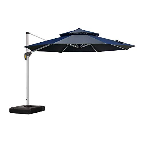 PURPLE LEAF 11 Feet Patio Umbrella Outdoor Round Umbrella Large Cantilever Umbrella Windproof Offset...