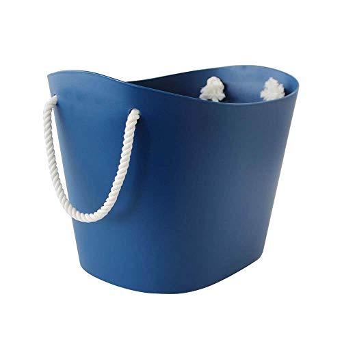 Hachiman Balcolore - Cesta de lavandería y almacenamiento (tamaño mediano), color azul marino