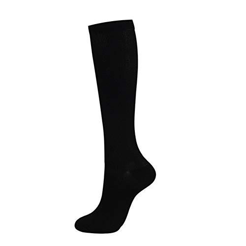 Unisex Calcetines de compresión Presión de Venas varicosas Stocking Rodilla Calcetines Deportivos de Bicicletas Fútbol Transpirable Tramo Calcetines de Futbol (Color : Black, Size : SM)