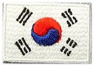韓国 国旗 アイロン ワッペン (ミニ 約33mmx24mm)