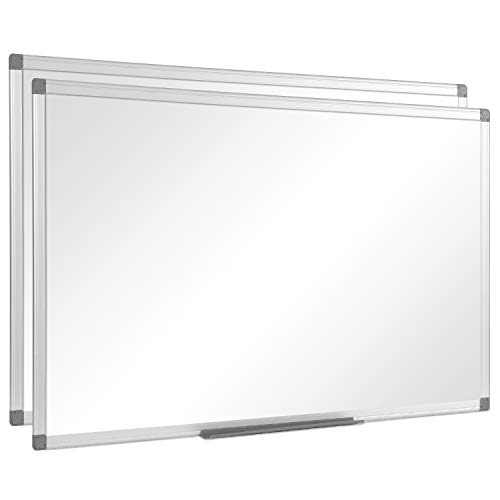 """36"""" x 24"""", Aluminum Alloy Frame, Honeycomb Core, Magnetic Dry Erase Board, White Board, Magnetic Whiteboard, Whiteboard, Magnetic White Board, White Boards for Wall, Large Whiteboard, 2 Pack"""