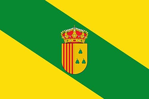 magFlags Bandera XL Peralta de Alcofea Tendrá la proporción 2/3 y será Amarilla con una Banda Verde | Bandera Paisaje | 2.16m² | 120x180cm