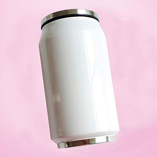 Stainless Steel Coffee Mug Vacuum Flasks Thermos Coffee Travel Mugs Garrafa Termica Inox 280ml 500ml Drinkware,White 280 ml