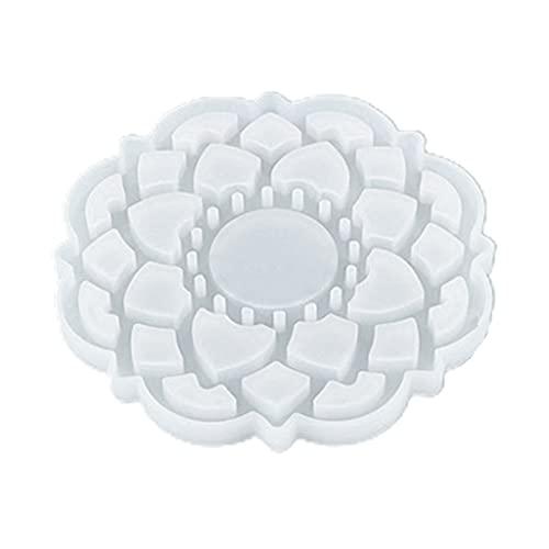 DONTHINKSO Moldes para bandejas, moldes para Posavasos de Resina DIY, moldes para bandejas de Resina de Silicona, moldes para fundición de Resina epoxi para fundición DIY, decoración del hogar-1