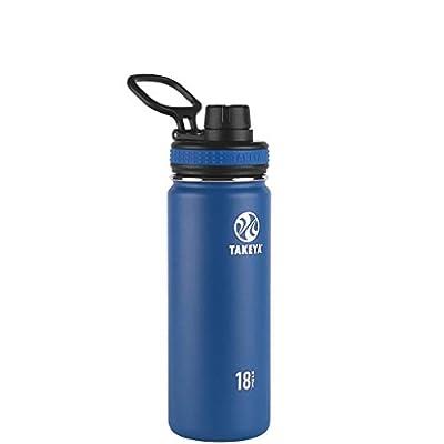 Takeya Originals Vacuum-Insulated Stainless-Steel Water Bottle, 18oz, Navy