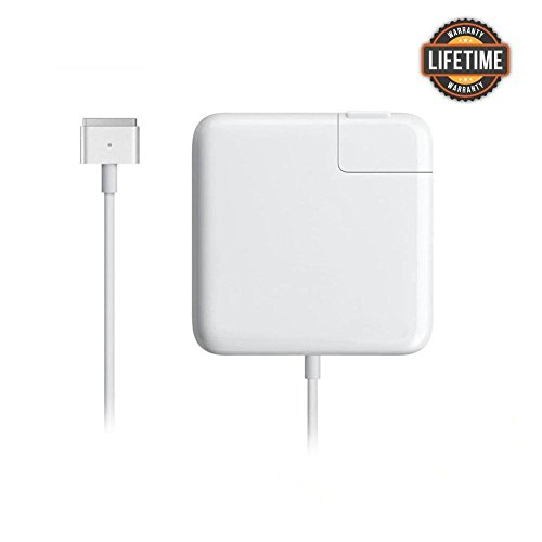 MacBook Pro Charger, AC 85w Power Adapter Magsafe 2 T-Tip Adapter Charger Connector - Superior Heat Control - Mac Book Pro 17/15/13 Inch (After Mid 2012)