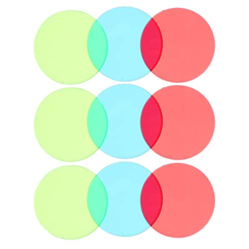 Scicalife 9Pcs Farbe Korrektur Beleuchtung Gel Filter Transparente Farbe Korrektur Beleuchtung Gel Filter Farbige Overlays Kunststoff Film Blatt Kinder Pädagogisches Spielzeug Sortiert