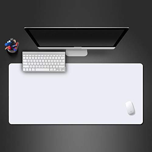 zanasta XXL muismat (800 x 300 mm)   muismat bureauonderlegger anti-slip mat groot, wit