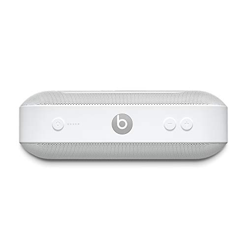 Beats Pill+ Portable Wireless Speaker - Stereo Bluetooth, 12 Hours Of Listening Time, Microphone For Phone Calls - White