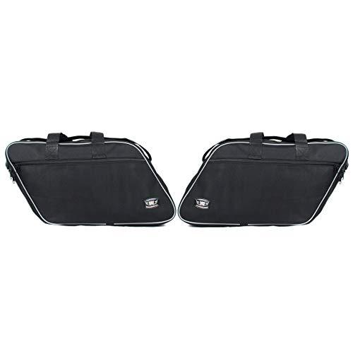 GROSSES Biker-ZAHNRAD - Packtaschen für Innenfutter für Harley Davidson Road King Electra Glide-Paar Neu