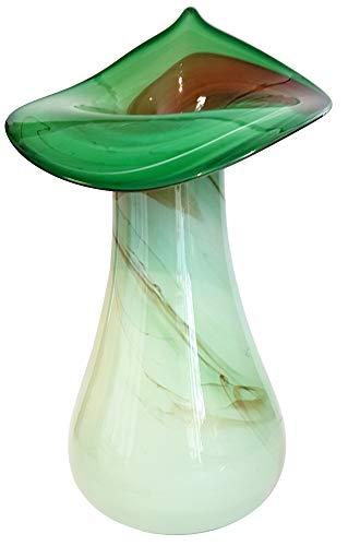Groene vaas grote glazen vaas moderne bloemenvaas tafeldecoratie hoogte ca. 35-37 cm Oberstdorf Glashütte