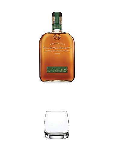 Woodford Reserve - RYE - (Grünes Label) USA 0,7 Liter + Spiegelau Whiskybecher Festival 1 Glas