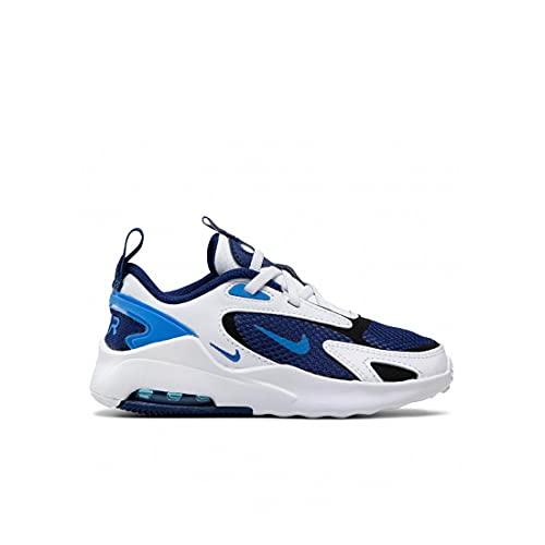 Nike Air Max Bolt, Scarpe da Corsa Unisex-Bambini, Blue Void Signal Blue White Black, 27.5 EU